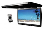 "Tview® - 24"" Black Flip Down TFT Monitor with Built-In Transmitter"