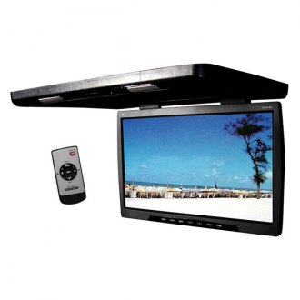 Tview® - 24 Black Flip Down TFT Monitor with Built-In Transmitter