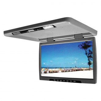 "Tview® - 24"" Gray Flip Down TFT Monitor with Built-In IR Transmitter"