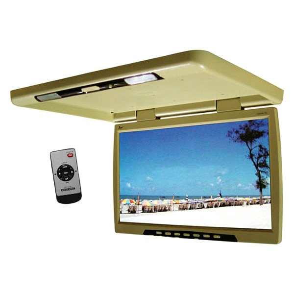 "Tview® - 24"" Tan Flip Down TFT Monitor with Built-In Transmitter"