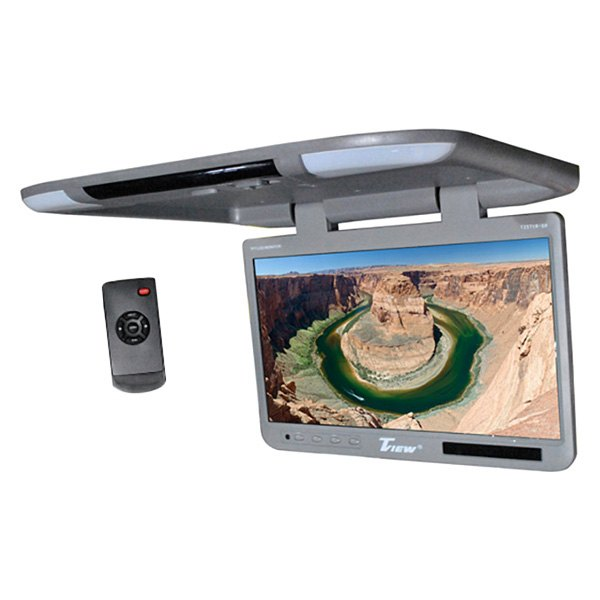 "Tview® - 25"" Gray Flip Down TFT Monitor with Built-In IR Transmitter"