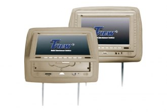 Tview® - Tan Headrest with 7 Monitor and Buil-In DVD Player