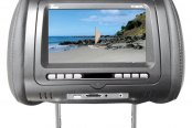"Tview® - Gray Headrest with 7"" Monitor and Built-In DVD Player"