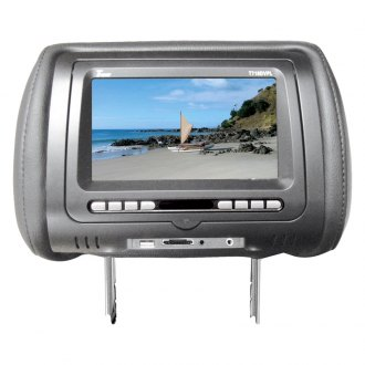 Tview® - Gray Headrest with 7 Monitor and Built-In DVD Player