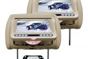 "Tview® - Tan Headrest with 7"" Monitor and Built-In DVD Player"