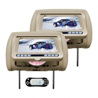 Tview® - Tan Headrest with 7 Monitor and Built-In DVD Player