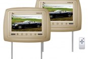 "Tview® - Tan Headrest with 7"" TFT Monitor and IR Transmitter"