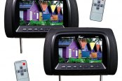 "Tview® - Black Headrest with 7"" TFT Monitor"
