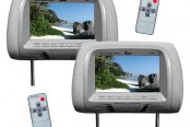 "Tview® - Gray Headrest with 7"" TFT Monitor"