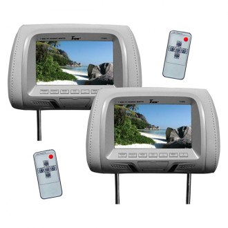 Tview® - Gray Headrest with 7 TFT Monitor
