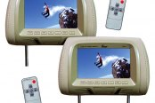 "Tview® - Tan Headrest with 7"" TFT Monitor"