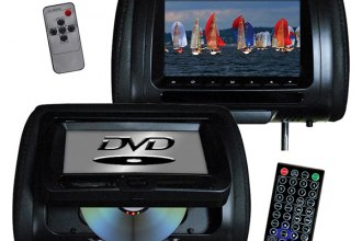 "Tview® T737DVPLBK - 7"" Black Headrest LCD Monitors with Built-In DVD Player"