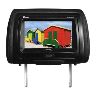 Tview® - Black Headrest with 7 TFT Touch Screen Monitor and Built-In DVD Player