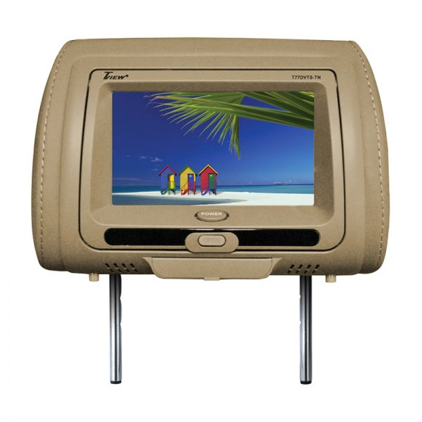 "Tview® - Tan Headrest with 7"" TFT Touch Screen Monitor and Built-In DVD Player"