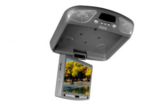 "Tview® - 9"" Flip Down TFT Monitor with Built-In DVD Player"