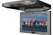 "Tview® - 9"" Gray Flip Down TFT Monitor with IR Transmitter"