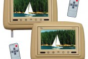 "Tview® - Tan Headrest with 9"" TFT Monitor and IR Transmitter"