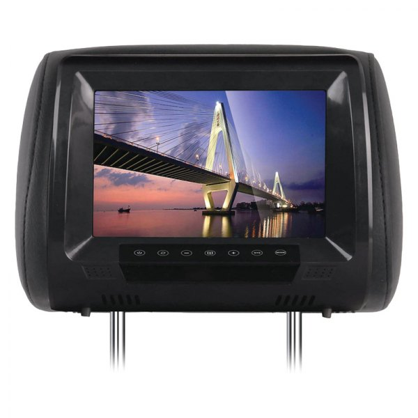 "Tview® - Black Headrest with 9"" LED Monitor and Built-In IR Transmitter"