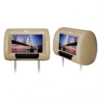 Tview® - Tan Headrest with 9 LED Monitor and Built-In IR Transmitter