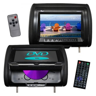 Tview® - Black Headrest with 9 Monitor and Built-In DVD Player