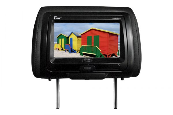 "Tview® - Black Headrest with 9"" TFT Touch Screen Monitor and Built-In DVD Player"