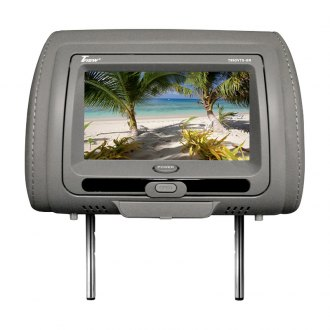 Tview® - Gray Headrest with 9 TFT Touch Screen Monitor and Built-In DVD Player