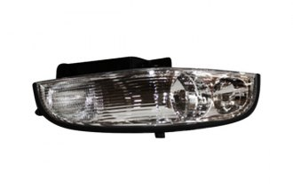TYC® 20-5230-00 - Driver Side Replacement Headlight (Chrome, with Clear Lens)