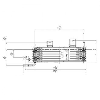 Hayden Automatic Transmission Oil Cooler for 2001-2013 Toyota Highlander di
