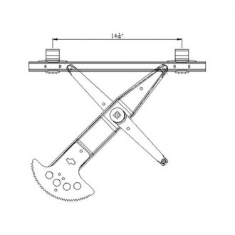 TYC® - Front Power Window Regulator and Motor Assembly