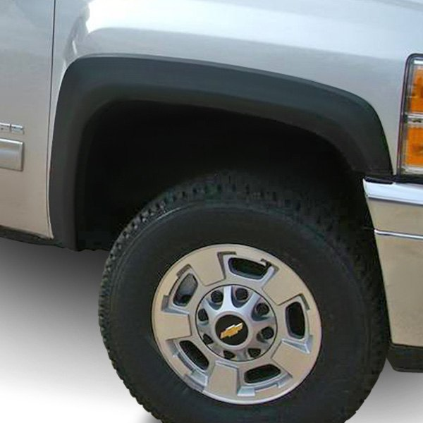 4 Piece Front /& Rear Factory OE Style Smooth Fender Flares Matte Black Paintable
