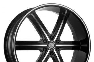"U2® - 55M-B Black with Machined Face and Stripe (26"" x 10"", +13 Offset, 6x139.7 Bolt Pattern, 78.1mm Hub)"
