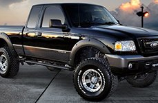 ULTRA® - NOMAD 174GN Gray with Diamond Cut Lip on Ford Ranger