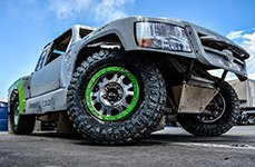 ULTRA® - X101 FORGED 101M Machined with Green Bead Ring on Dodge Ram