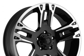 "ULTRA® - MAVERICK 235B Gloss Black with Diamond Cut Accents (16"" x 8"", +10 Offset, 6x139.7 Bolt Pattern, 106.1mm Hub)"