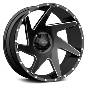 ULTRA® - VORTEX 206BM Gloss Black with Milled Accents and Clear Coat