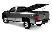 UnderCover® - Classic™ Black Hinged Tonneau Cover, Open