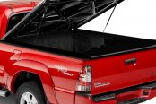 UnderCover® - SE™ Black Hinged Tonneau Cover, Open