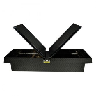 Unique Truck Accessories® - Brute™ Wide Dual Lid Gull Wing Crossover Tool Box