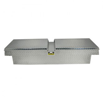 Unique Truck Accessories® - Brute Wide Dual Lid Gull Wing Crossover Tool Box