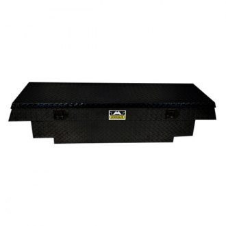 Unique Truck Accessories® - Brute™ Stair Notches Wide Dual Lid Gull Wing Crossover Tool Box