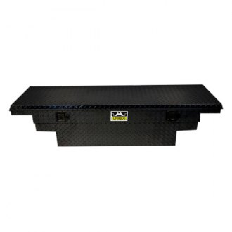 Unique Truck Accessories® - Brute™ Low Profile Wide Stair Notches Single Lid Crossover Tool Box