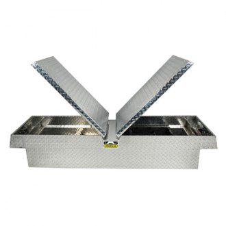 Unique Truck Accessories® - Deep Wide Dual Lid Gull Wing Crossover Tool Box