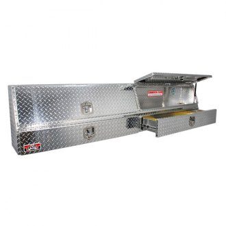 Unique Truck Accessories® - Brute™ Contractor Double Doors Top Mount Tool Box with Bottom Drawers