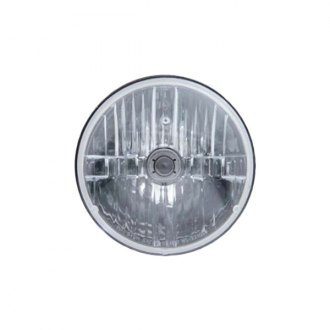 "United Pacific® - 7"" Round Chrome Crystal Euro Headlights"