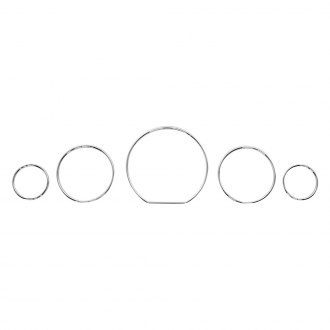 URO Parts® - Chrome Instrument Trim Ring Set