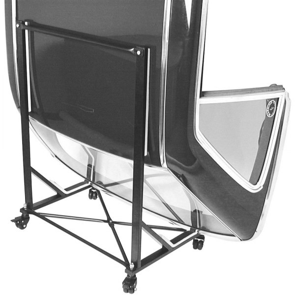 URO Parts® - Black Hard Top Storage Cart with Cover