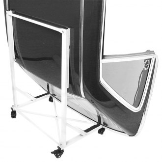 URO Parts® - White Hard Top Storage Cart with Cover