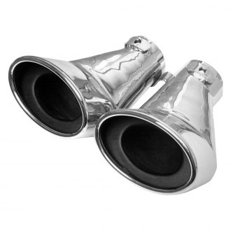 URO Parts® - Stainless Steel Dual Exhaust Tips