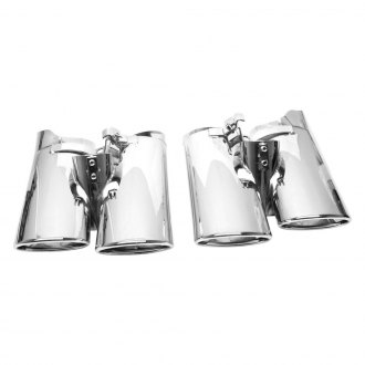 URO Parts® - Stainless Steel Dual Oval Exhaust Tips