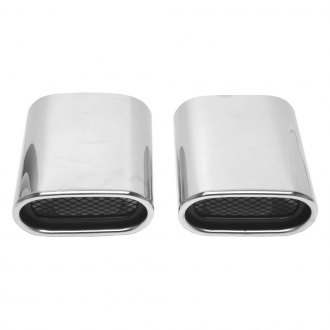 URO Parts® - Stainless Steel Oval Exhaust Tips